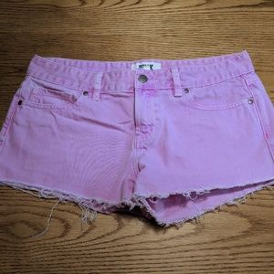 PINK by Victoria's Secret Neon Pink Denim Shorts 8